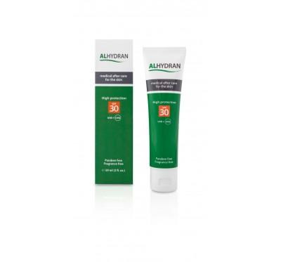 Alhydran negovalna gel krema z zaščitnim faktorjem 30, 59 ml