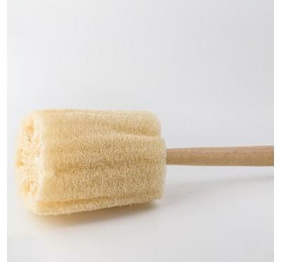 Loofah krtača z lesenim ročajem (LB D)