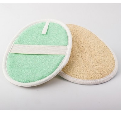 Ovalna krpica za umivanje Loofah/bombaž (OL)